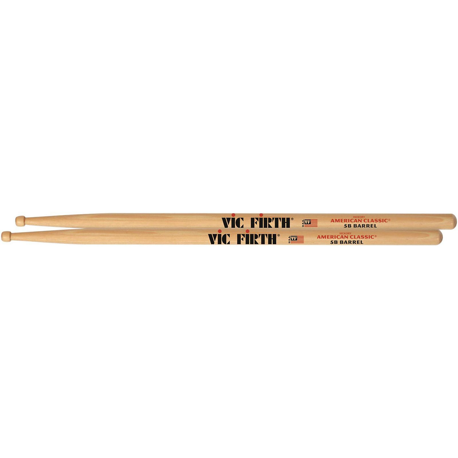 Wood Tip Vic-Firth 5B Barrel Sticks American Classic
