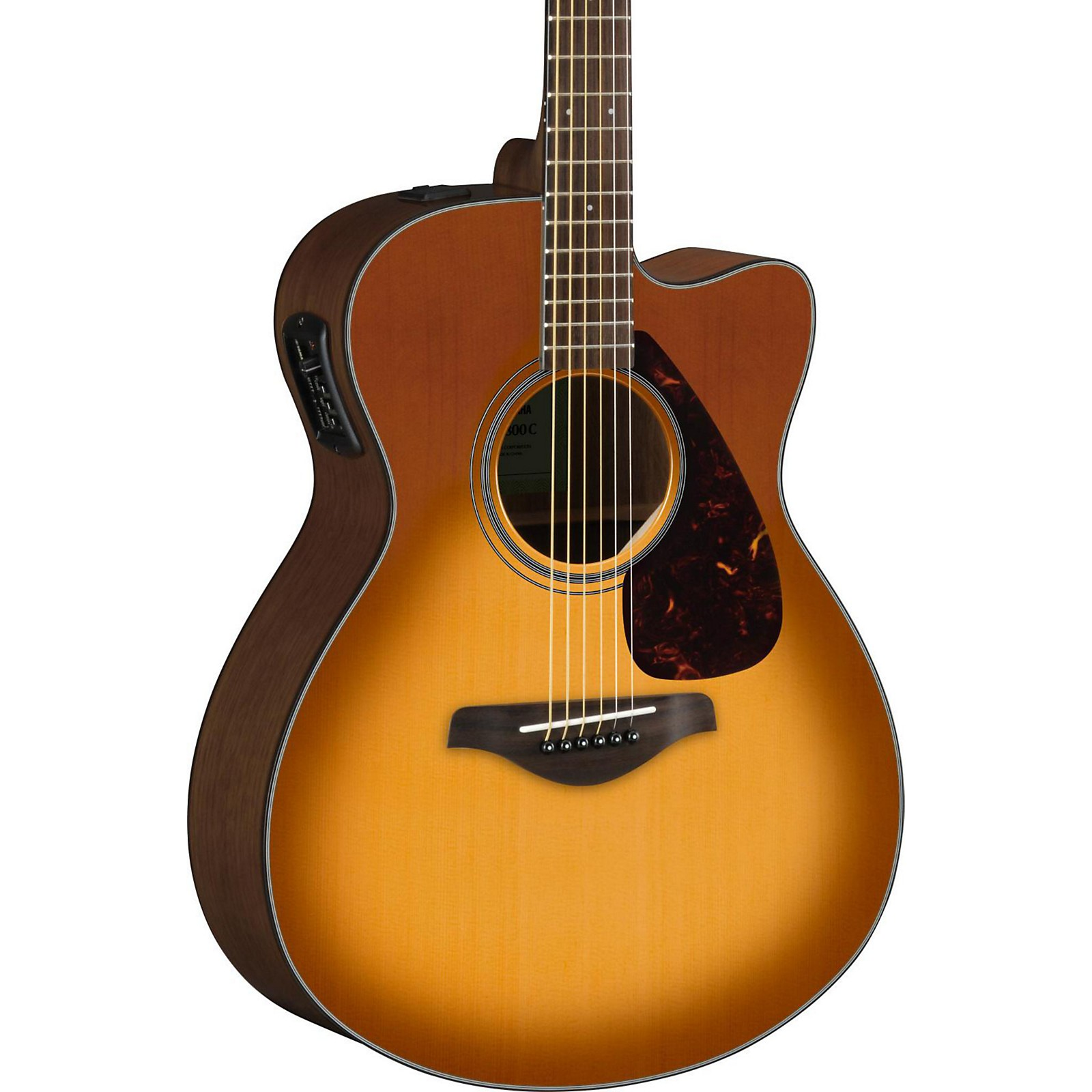 Yamaha Fsx800c Small Body Acoustic Electric Guitar Sand Burst Guitar Center