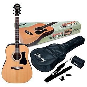 JamPack IJV50 Quickstart Dreadnought Acoustic Guitar Pack Natural