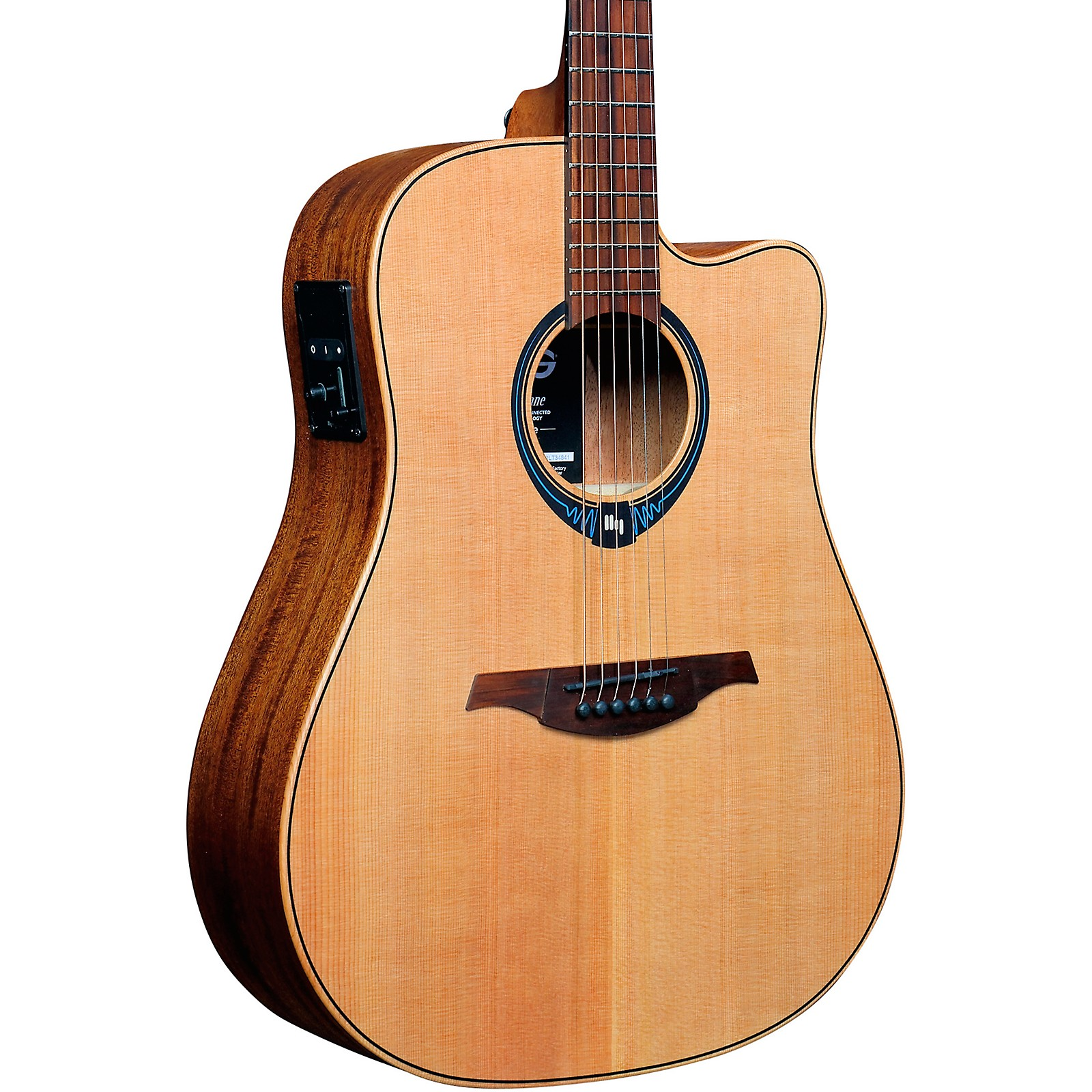 Lag Guitars Tramontane Hyvibe Thv10dce Dreadnought Acoustic Electric Smart Guitar Natural Guitar Center