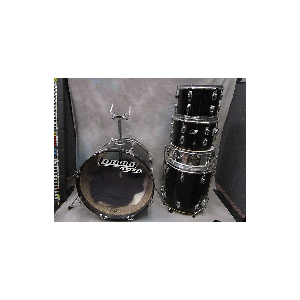Ludwig 1980s Rocker Black 113336362