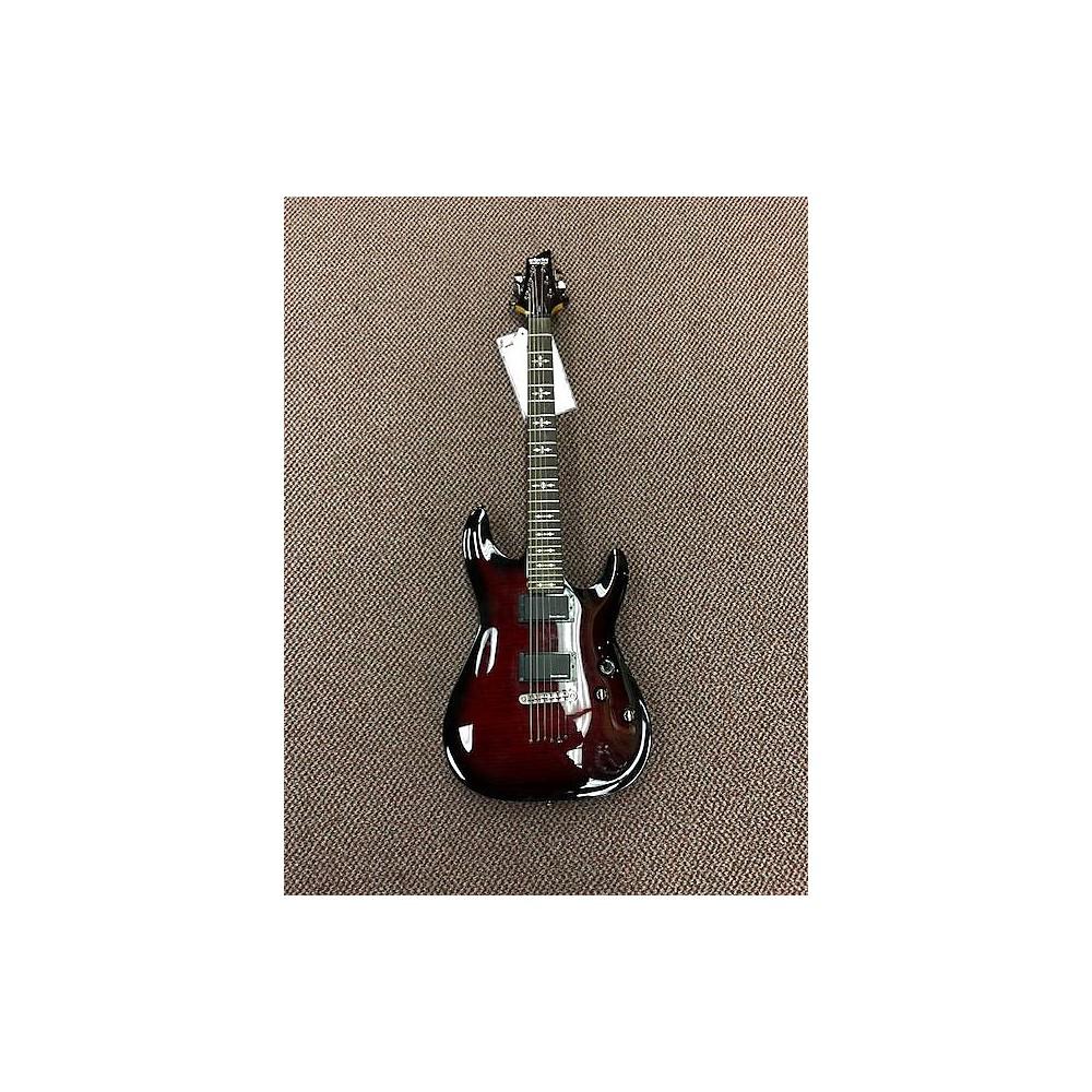 Schecter Guitar Research Demon 6 Solid Body Electric Guitar Crimson Red Burst 114303523