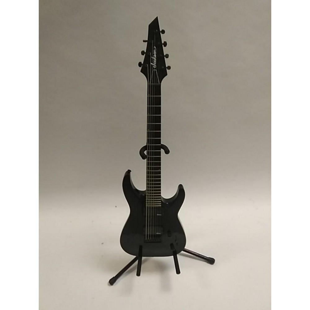 Jackson JS22-7 Dinky 7 String Solid Body Electric Guitar Black 114339577