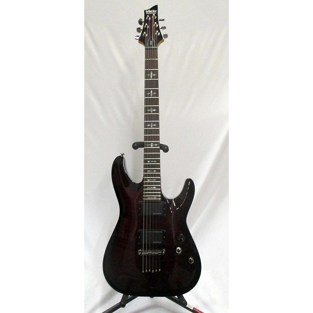 Schecter Guitar Research Demon 6 Solid Body Electric Guitar Crimson Burst 114421727