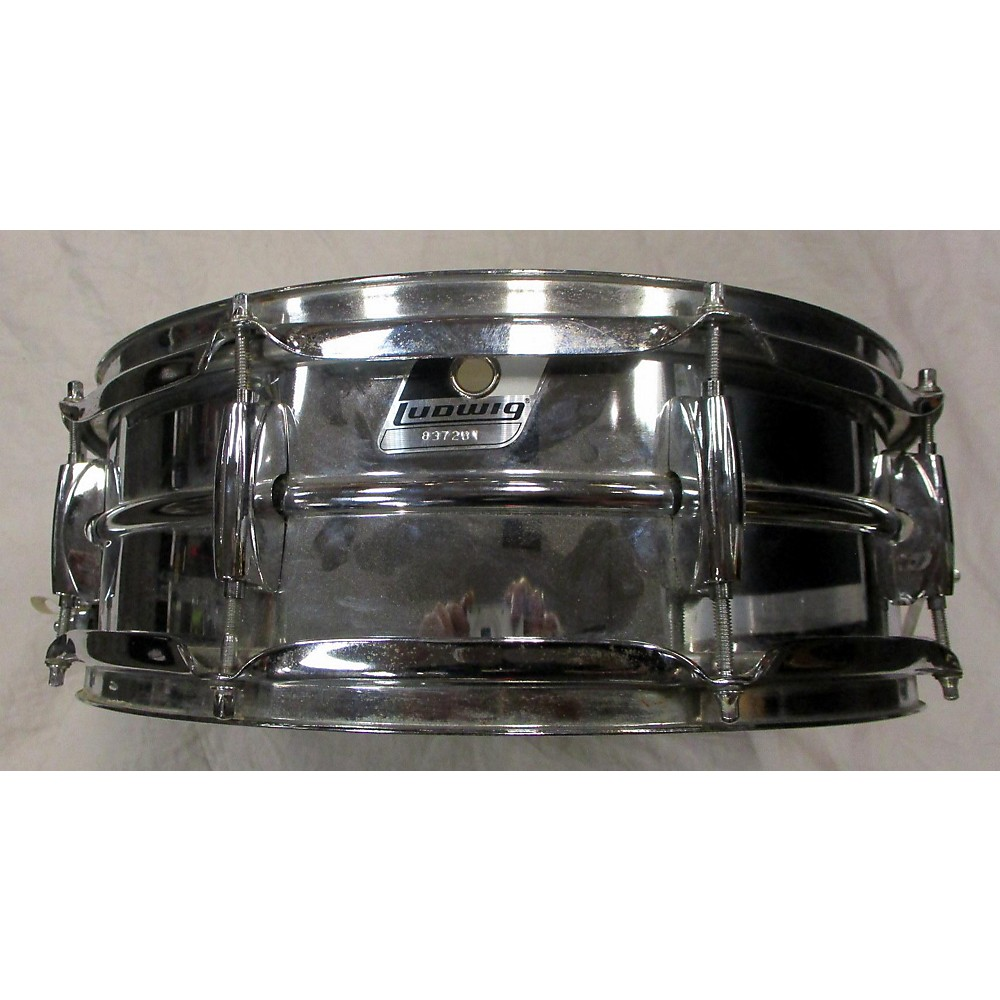 Ludwig 5.5X14 ROCKER STEEL Drum Chrome Silver 10 114434609