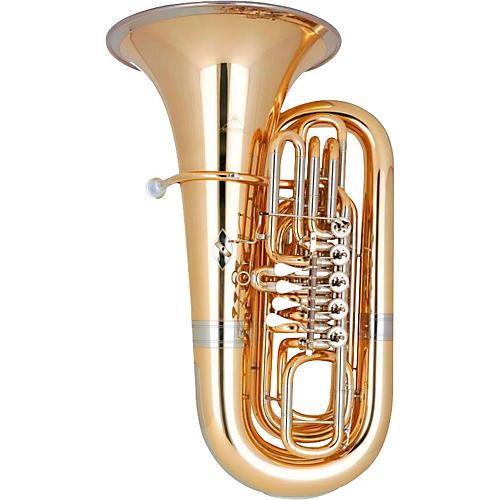 Miraphone 0091B 07005 191 Silver Yellow Brass Bb Tuba 4/4 5-Valve
