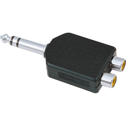 American Recorder Technologies 1/4 inch Male Stereo to 2 RCA Female Adapter
