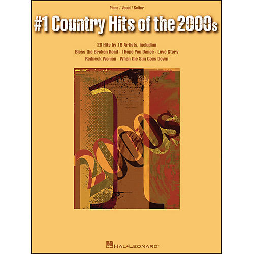 Hal Leonard #1 Country Hits Of The 2000s arranged for piano, vocal, and guitar (P/V/G)