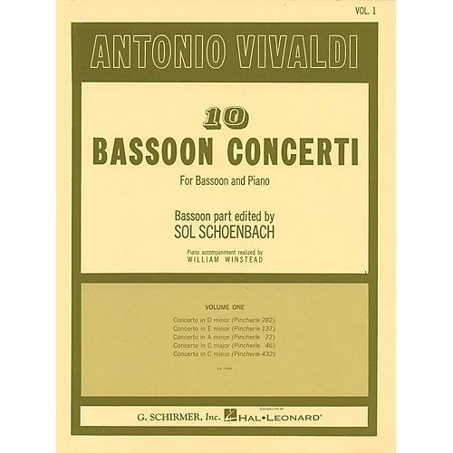 G. Schirmer 10 Bassoon Concerti, Vol. 1 Woodwind Solo Series by Vivaldi Edited by Sol Schoenbach