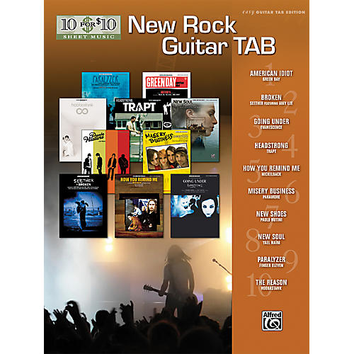Alfred 10 For $10 - New Rock Guitar Tab Book