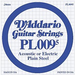 d 39 addario 10 pack plain steel single gauge acoustic or electric guitar string 10 in 0095. Black Bedroom Furniture Sets. Home Design Ideas