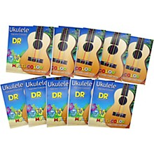 DR Strings 10-Pack Ukulele Multi-Color Soprano Concert Strings