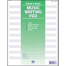"Alfred 10 Stave Music Writing Pad (8 1/2"" x 11"")"