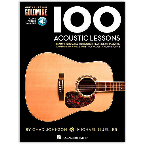 hal leonard 100 acoustic lessons guitar lesson goldmine series book online audio guitar center. Black Bedroom Furniture Sets. Home Design Ideas