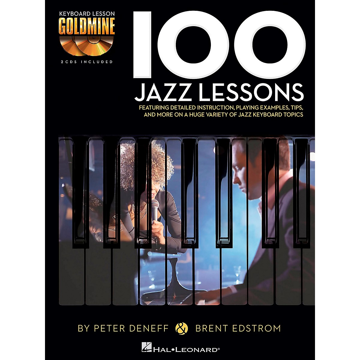 Hal Leonard 100 Jazz Lessons - Keyboard Lesson Goldmine Series Book/2-CD Pack