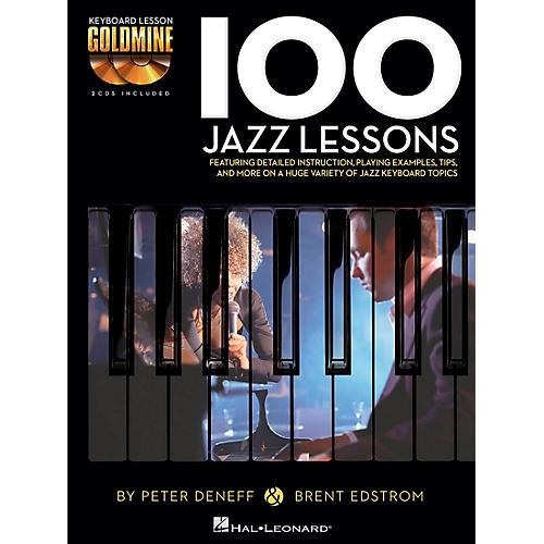 Hal Leonard 100 Jazz Lessons - Keyboard Lesson Goldmine Series Book/2-CD Pack