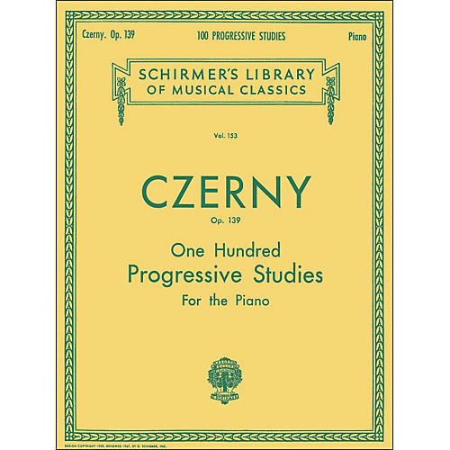 G. Schirmer 100 Progressive Studies without Octaves Op 139 By Czerny