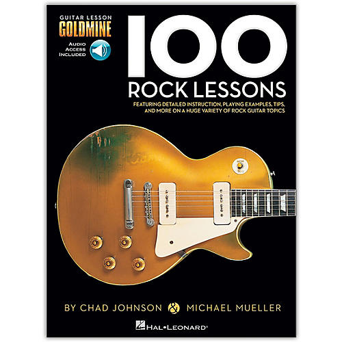 hal leonard 100 rock lessons guitar lesson goldmine series book online audio guitar center. Black Bedroom Furniture Sets. Home Design Ideas