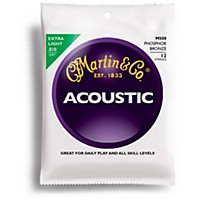 Martin M-500 Acoustic Guitar Strings, 92/8  ...