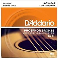 D'addario Ej41 12-String Phosphor Bronze  ...