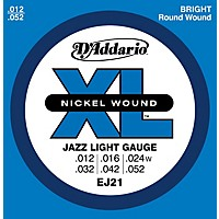 D'addario Ej21 Xl Nickel Jazz Light Electric  ...