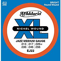 D'addario Ej22 Nickel Jazz Medium Electric  ...