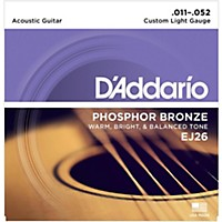 D'addario Ej26 Phosphor Bronze Custom Light  ...
