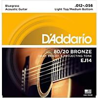 D'addario Ej14 80/20 Bronze Bluegrass Medium  ...