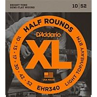 D'addario Ehr340 Half Round Light Top Heavy  ...