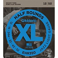 D'addario Ehr350 Half Round Jazz Light  ...