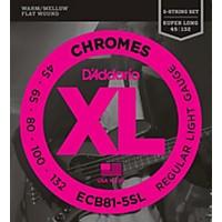 D'addario Ecb81-5Sl Chromes Flat Wound  ...