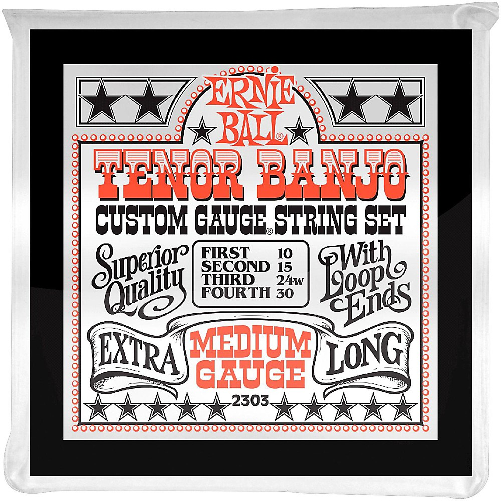 Ernie Ball 2303 Medium Gauge Tenor Banjo Strings 1273887998499