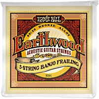 Ernie Ball 2061 Earthwood 80/20 Bronze 5-String Banjo Frailing Strings