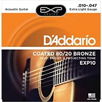 D'addario Exp10 Coated 80/20 Bronze Extra  ...