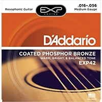 D'addario Exp42 Coated Phosphor Bronze Resophonic Guitar Strings
