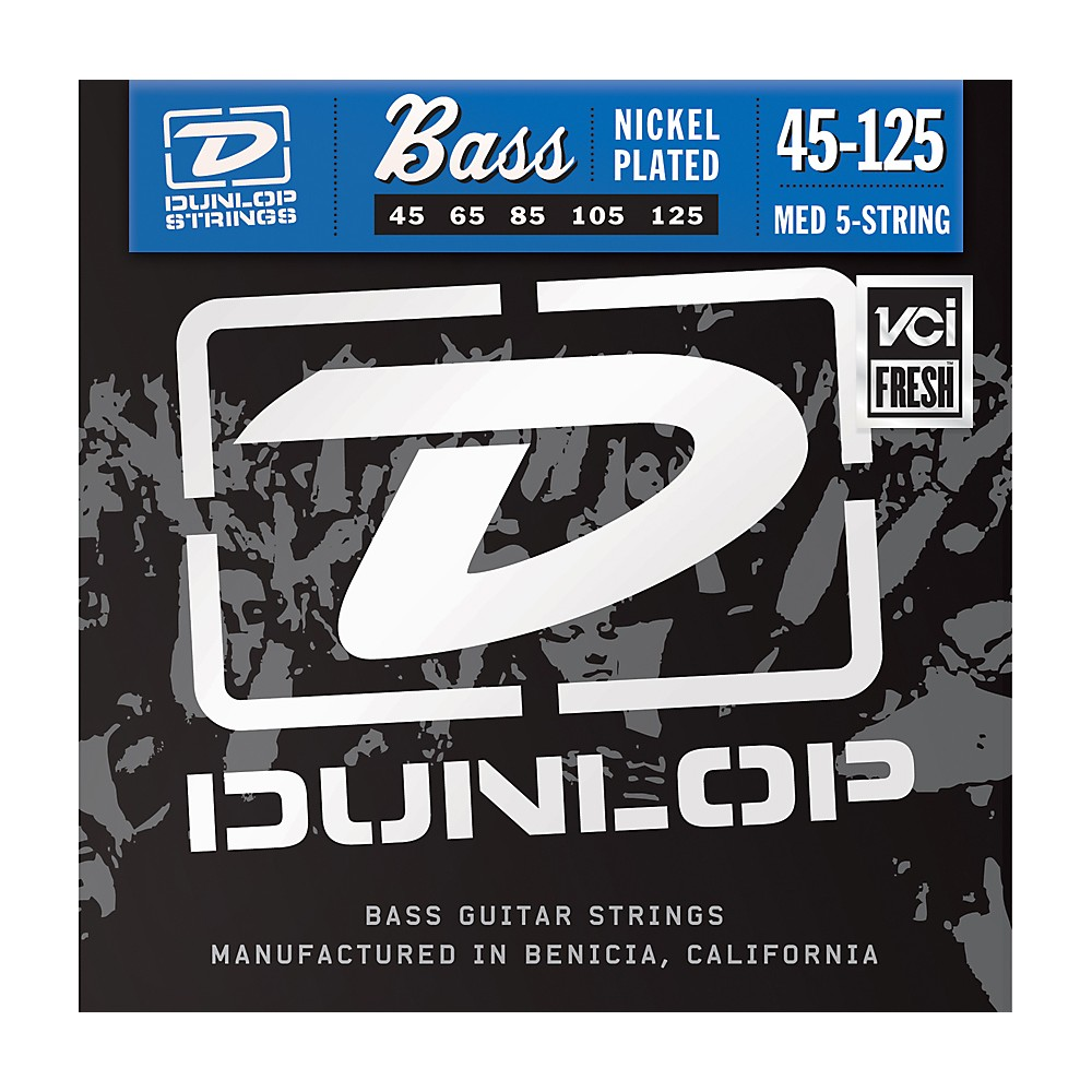Dunlop Nickel Plated Steel Bass Strings Medium 5-String 1274228082422