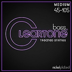 Cleartone Coated Medium Electric Bass Guitar Strings