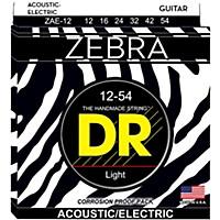 Dr Strings Zebra Medium Acoustic-Electric  ...