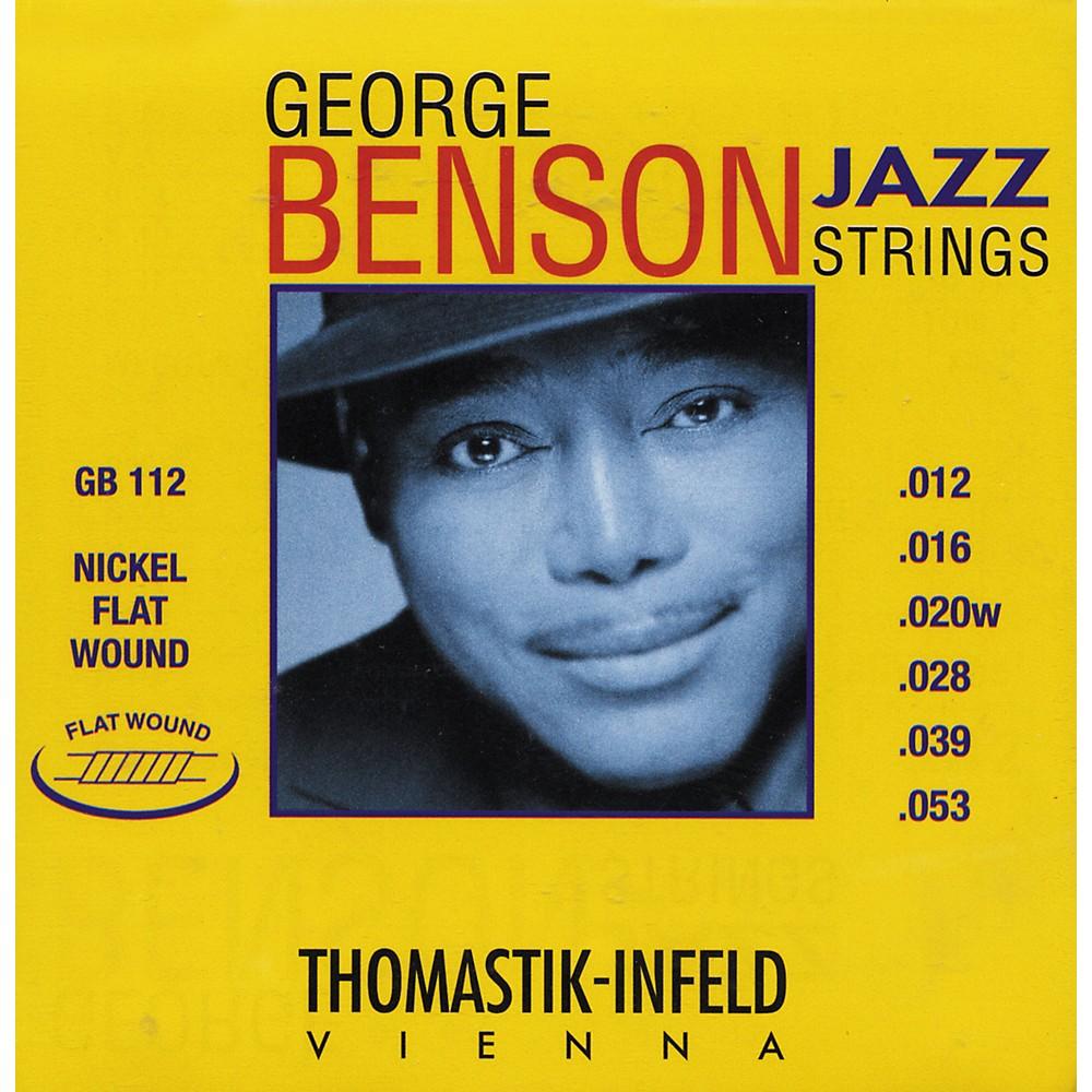 Thomastik GB112 Medium Light George Benson Custom Flatwound Guitar Strings 1274115037006