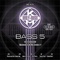 Kerly Music 5-String Bass Guitar Strings Heavy Nickel Plated