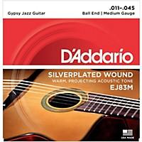 D'addario Ej83m Gypsy Jazz Silver Wound  ...