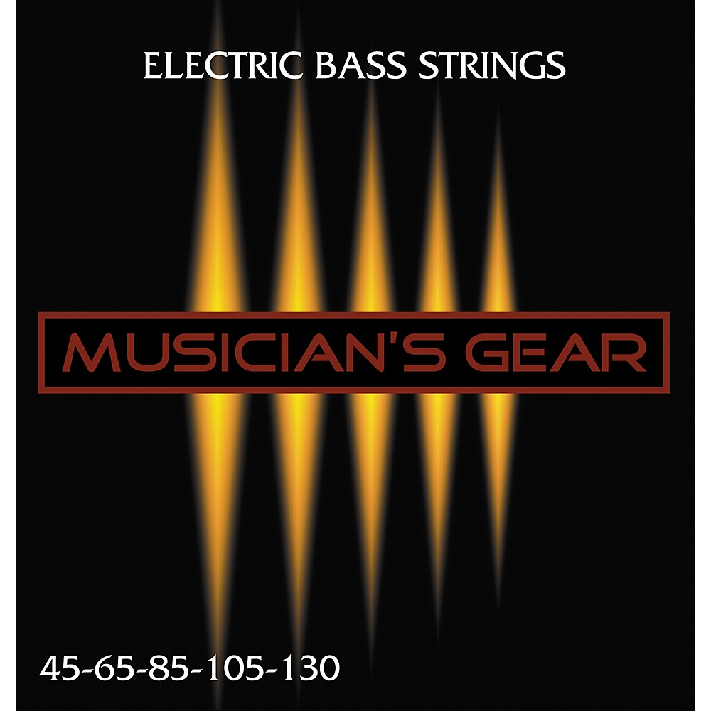 Musician's Gear Electric 5-String Nickel Plated Steel Bass Strings 1275776906108