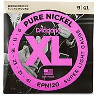 D'addario Epn120 Pure Nickel Super Light Electric Guitar Strings