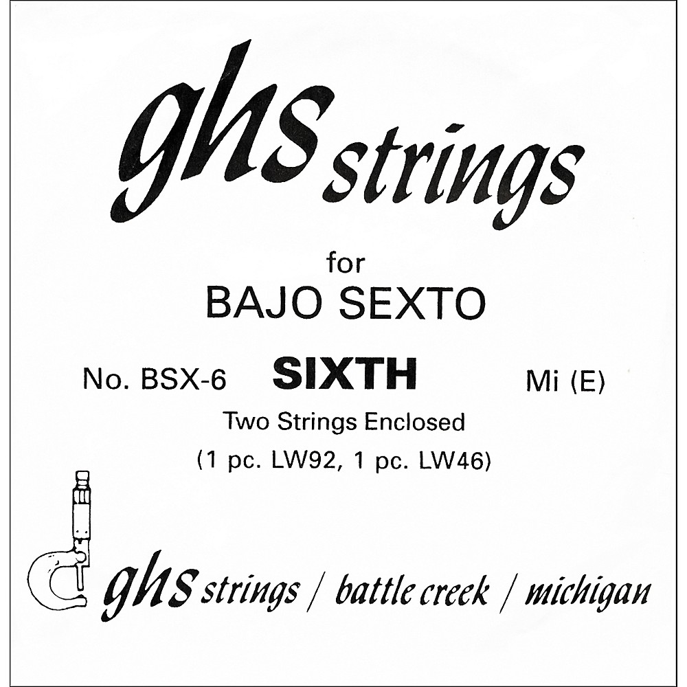 Ghs Bsx6 Bajo Sexto Single Guitar String