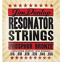 Dunlop Resonator Guitar Phosphor Bronze  ...