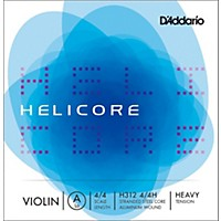 D'addario Helicore Violin  Single A String 4/4 Size Heavy