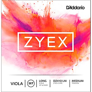 D'addario Zyex Series Viola String Set Medium