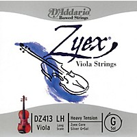 D'addario Zyex Series Viola G String  16+ Long Scale Heavy