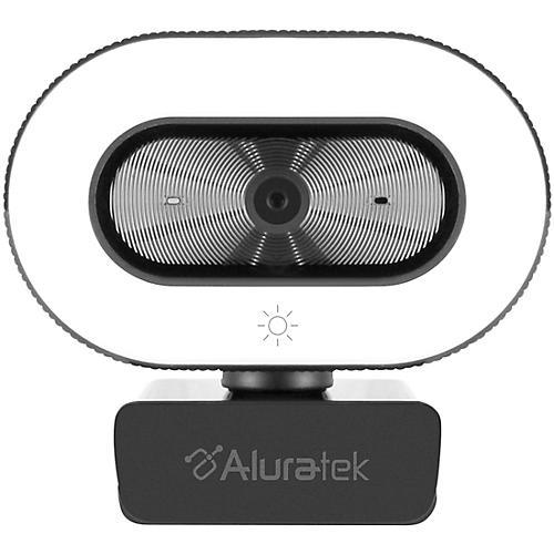 Aluratek 1080P USB Webcam w/Adjustable Lighting, Autofocus & Dual Mics