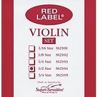 Super Sensitive Red Label Violin String Set  1/2